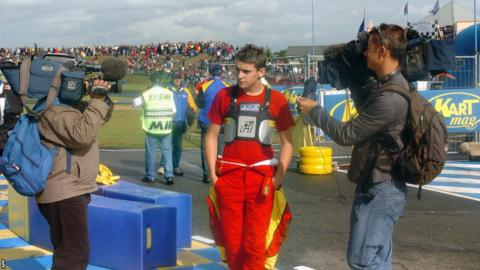 Jules Bianchi as a karting driver in 2006