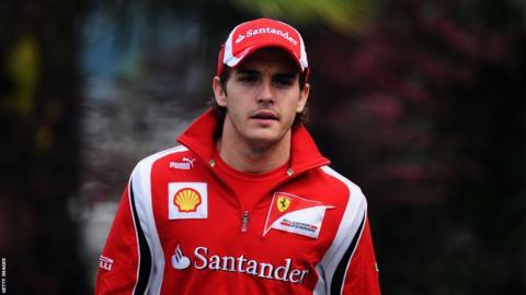 Jules Bianchi as a test driver for Ferrari in 2011