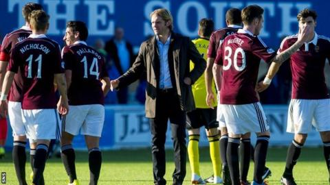 Head coach Robbie Neilson has led Hearts to seven wins from eight Championship games.
