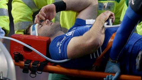 Fergus McFadden suffered an ankle injury in Leinster's defeat by Munster on Saturday