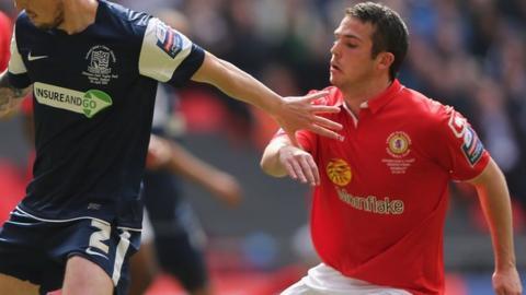 Crewe midfielder Brad Inman