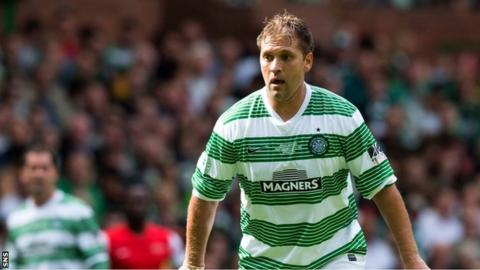 Stiliyan Petrov takes part in a charity match at Celtic Park in September