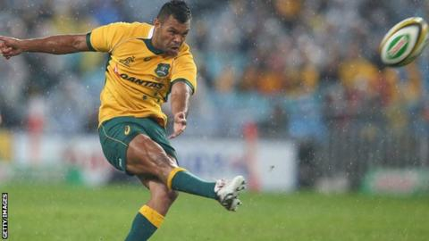 Kurtley Beale in action for Australia