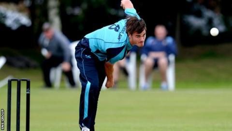 Scotland bowler Iain Wardlaw