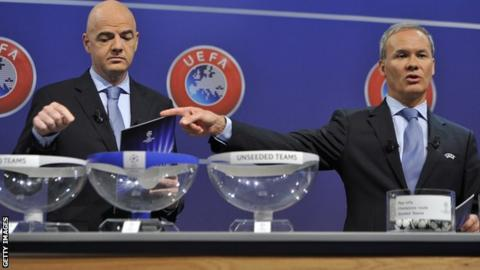 A Champions League draw takes place