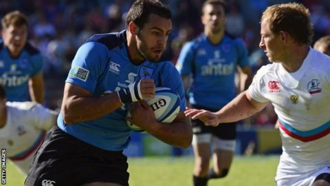 Uruguay v Russia Rugby World Cup playoff