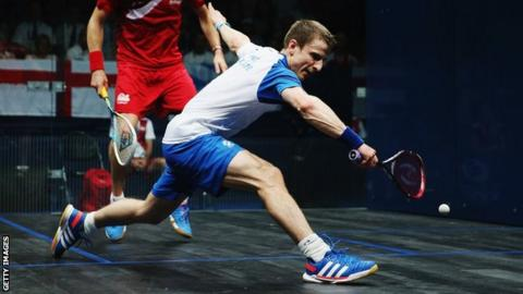 Scottish squash player Alan Clyne