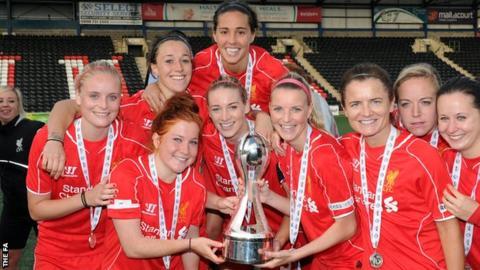 Liverpool celebrate winning th WSL title