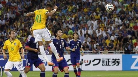 Brazil forward Neymar scores his fourth goal