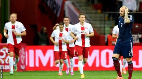 A bad touch from Alan Hutton led to the first goal for Poland