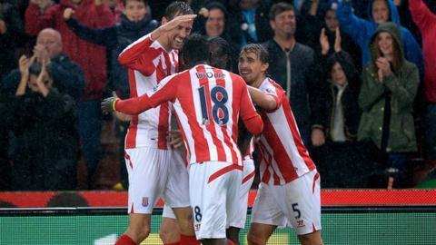 Stoke City striker Peter Crouch