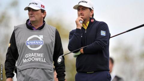 Graeme McDowell and his caddie