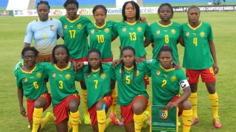 The Cameroon women's team