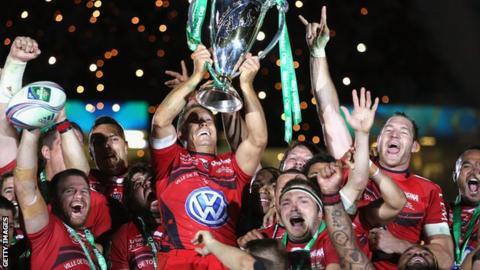 Toulon celebrate winning the 2014 Heineken Cup