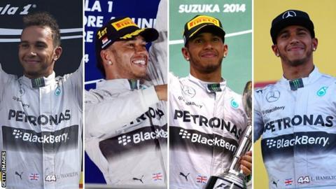 Lewis Hamilton has won four races in a row for the second time this season