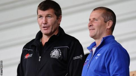 Rob Baxter and England boss Stuart Lancaster