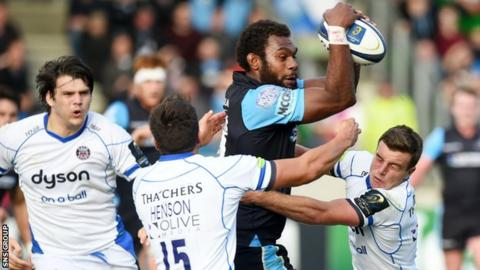 Glasgow Warriors' Leone Nakararw was a forceful presence at a sold out Scotstoun