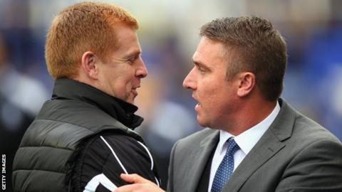 Bolton's Neil Lennon and Lee Clark of Birmingham