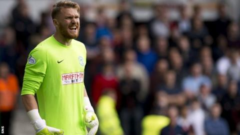 Goalkeeper Mark Oxley joined Hibernian in the summer on loan from Hull City