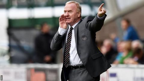 St Mirren manager Tommy Craig