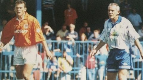 Shaun Reid (left) playing against his brother Peter