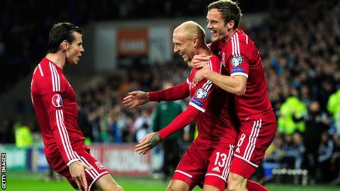 Gareth Bale, David Cotterill and Andy King