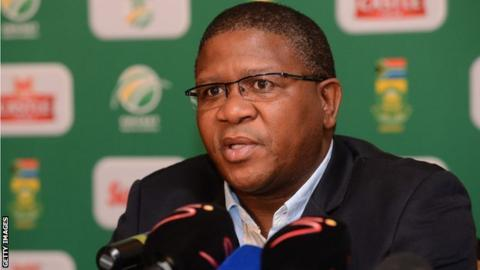 South African sports minister Fikile Mbalula