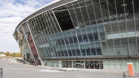Donbass Stadium in Donetsk