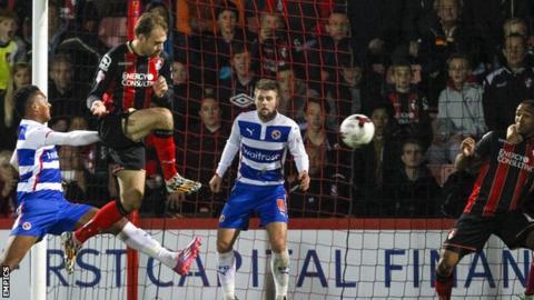 Brett Pitman scores for Bournemouth