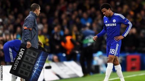 Loic Remy injured himself after scoring Chelsea's opener against Maribor