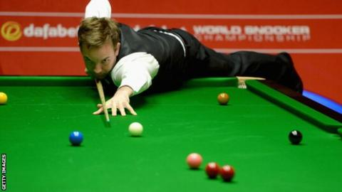 Snooker player Ali Carter
