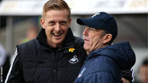 Garry Monk and Tony Pulis