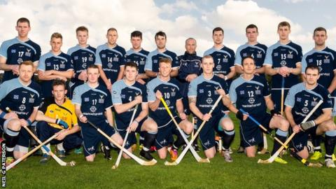 Scotland's shinty team take a 3-1 lead to Newry