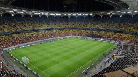 The Arena Nationala in Bucharest