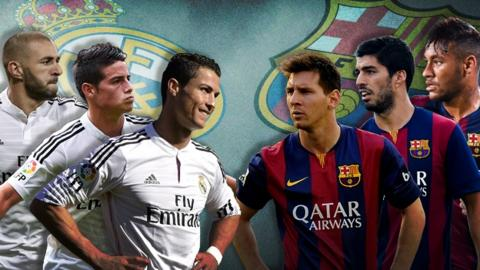 Real Madrid and Barcelona players