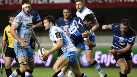 Glasgow Warriors defeated Montpellier at the Altrad Stadium