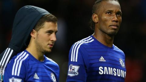 Didier Drogba and Eden Hazard