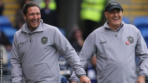 Scott Young with Russell Slade