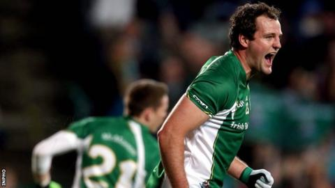 Michael Murphy captained Ireland to Rules success last year