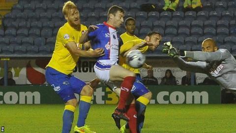 Carlisle striker Stephen Elliott