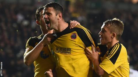 Michael Higdon celebrates his winning goal