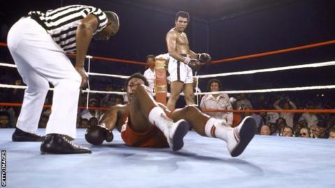 George Foreman and Muhammad Ali