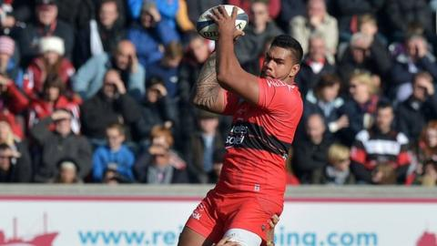Romain Taofifenua wins a line-out in Toulon's European Champions Cup win over Ulster