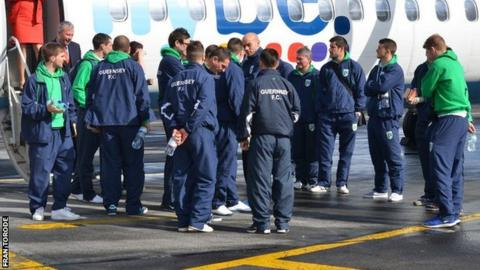 Guernsey FC fly to all their away games