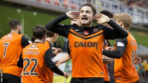 Paul Paton was on target for Dundee United