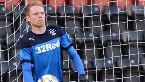 Rangers goalkeeper Lee Robinson
