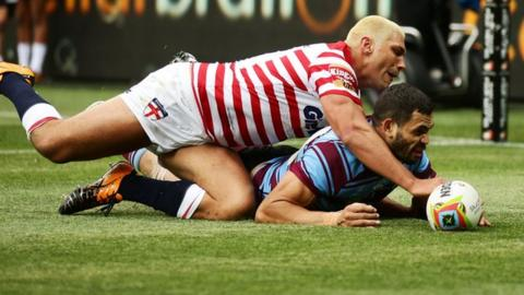 Ryan Hall's 'try' during England's defeat to Australia in the 2014 Four Nations