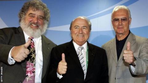 Chuck Blazer, Sepp Blatter, and Franz Beckenbauer