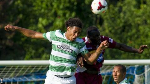 CFR Cluj's Gregory Tade played against Celtic in a pre-season friendly in 2013