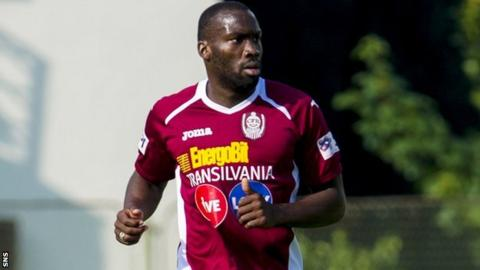 Gregory Tade joined CFR Cluj from St Johnstone in 2013